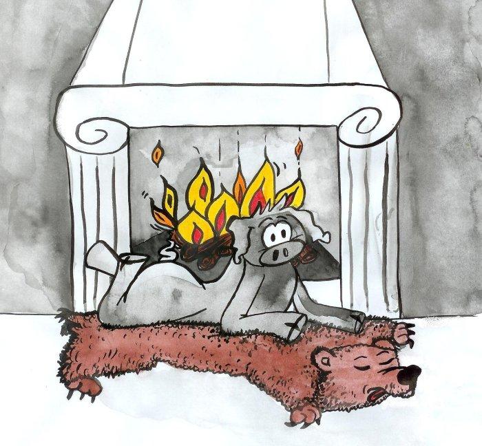 calendrier cochon groink et forest nus novembre