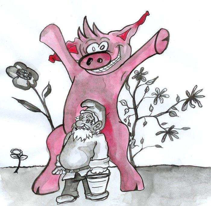 calendrier cochon groink et forest nus juillet