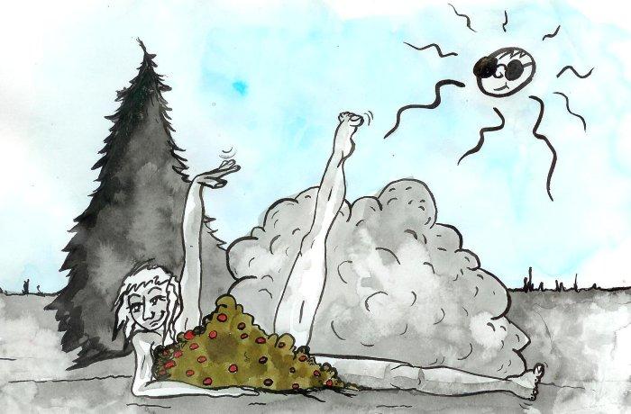calendrier cochon groink et forest nus aout