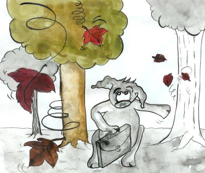 calendrier cochon groink et forest nus septembre